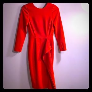 Red sheath dress—classic with a twist!